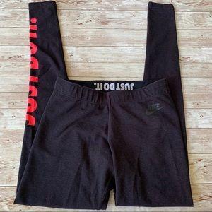 Nike Just Do It Pink Speckled Black Leggings
